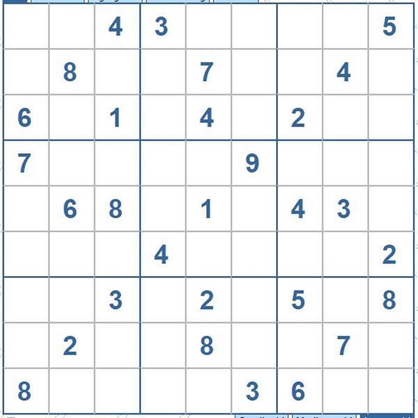 Mời các bạn thử sức với ô số Sudoku 3538 mức độ Khó