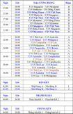 Lịch thi đấu, bảng xếp hạng U19 Đông Nam Á 2015