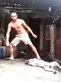 Cư dân mạng quyết truy lùng thanh niên giết chó rồi uống máu tươi