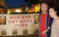 Vợ chồng sao gạo cội Hồng Kông bị treo băng-rôn đòi nợ giữa đường