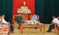 Thượng tướng Nguyễn Thành Cung thăm và làm việc với Ban Chỉ đạo Tây Nam bộ