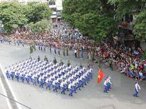 Thư khen lực lượng quân đội và dân quân tự vệ tại lễ míttinh