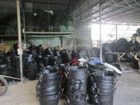Lão nông tái chế lốp cao su xuất khẩu ra nước ngoài