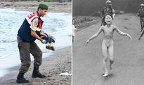Ảnh xác bé trai tị nạn Syria dạt vào bờ biển gợi nhớ 'Em bé Napalm' tại Việt Nam