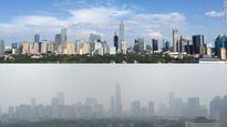 """Bầu trời xanh """"biến mất"""" sau lễ duyệt binh ở Bắc Kinh"""