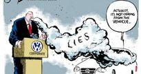 Biếm họa tuần qua: Gian lận khí thải của Volkswagen và cái bắt tay Trung-Mỹ