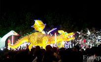 Cận cảnh gần 100 chiếc lồng đèn khủng lễ diễu hành tại Tuyên Quang