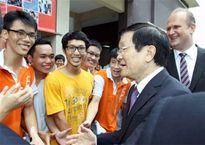 Chủ tịch nước Trương Tấn Sang thăm và làm việc tại Trường Đại học Việt Đức