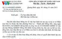 Sở GD-ĐT Quảng Bình trả lời về vụ bảo mẫu bịt miệng, trói trẻ mầm non Đóng cửa trường mầm non có cô giáo trói, bịt miệng bé 14 tháng tuổi