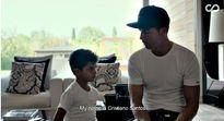 Ronaldo phát bực vì con trai không nhớ nổi tên mình