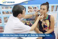 Hoa khôi bóng chuyền Kim Huệ tìm lại làn da không tuổi.