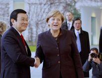 Chủ tịch nước gặp Thủ tướng Đức