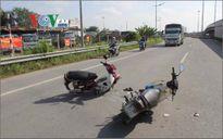 Nam sinh gặp nạn trên đường đến trường