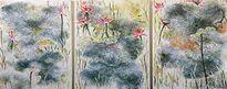 Hoa sen trong tranh Thân Trọng Dũng