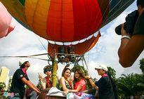 Trải nghiệm khinh khí cầu tại Ngày Hữu nghị Quốc tế