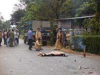 Thanh niên bị xe tải cán chết sau cú va chạm với xe máy