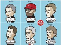 Biếm họa: Wenger – Vua top 4