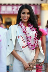 Lan Khuê lọt top 10 bình chọn của Miss World 2015