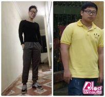 """Chàng trai giảm cân từ béo ú thành """"soái ca"""" 6 múi"""