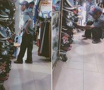 Dân mạng ngưỡng mộ cụ ông tìm mua giày cho vợ