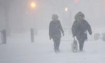 Bờ Đông Mỹ đóng băng vì tuyết