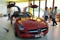 """Siêu xe """"cánh chim"""" Mercedes SLS AMG 12 tỷ trên phố Việt"""