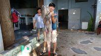 Hai giờ vật lộn với cá 'khủng' trên sông Sêrêpôk