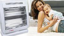 Dùng quạt sưởi sai cách khiến trẻ dễ mắc bệnh hô hấp hơn trời lạnh