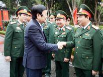 Chủ tịch nước Trương Tấn Sang chúc Tết tại Hà Tĩnh, Nghệ An và Quân khu 4