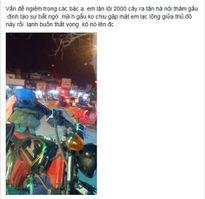 """Chàng trai đi xe máy từ Bến Tre ra Hà Nội gặp bạn gái bị """"phũ"""""""