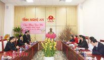 Đoàn công tác tỉnh Hủa Phăn (Lào) chúc Tết tỉnh Nghệ An