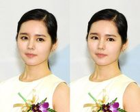 Sao Hàn khác biệt khi bị photoshop mất bọng mắt cười