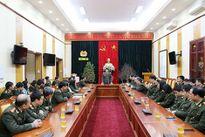 Thứ trưởng Bùi Văn Nam kiểm tra công tác ứng trực, đảm bảo ANTT Tết tại Văn phòng Bộ Công an