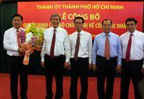 Bổ nhiệm ông Đinh La Thăng làm Bí thư Thành ủy TP Hồ Chí Minh