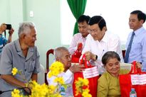 Chủ tịch nước Trương Tấn Sang chúc Tết tại một số địa phương