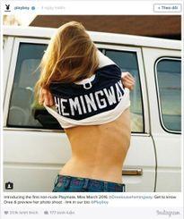 Chắt Hemingway lên bìa số Playboy 'chính chuyên' đầu tiên