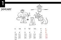 Lịch Tết kute về những chú khỉ tinh nghịch