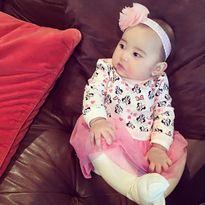 Con gái Kim Hiền dễ thương đón Tết đầu tiên trong đời
