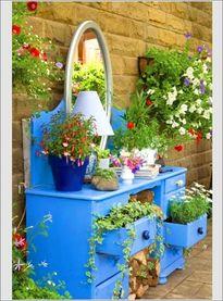 Tận dụng đồ cũ trồng hoa tạo góc vườn rực rỡ đón xuân