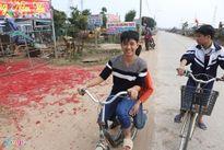 Xác pháo đỏ đường ở Vĩnh Phúc: Công an chưa biết thông tin