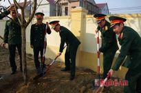 Bộ CHQS tỉnh Nghệ An phát động Tết trồng cây đầu năm mới