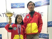 Nguyễn Lê Cẩm Hiền 8 tuổi, chinh phục đỉnh cao thế giới