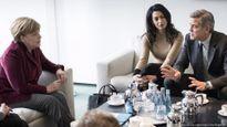 Thủ tướng Đức Angela Merkel hội đàm với vợ chồng George Clooney về người tị nạn