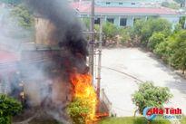 Cháy trạm điện trong khu vực BVĐK Hà Tĩnh