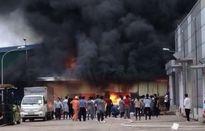 Cháy lớn tại KCN Khai Quang, công nhân hốt hoảng