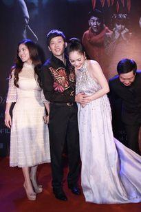 Dương Cẩm Lynh mang bầu 5 tháng khi ra mắt phim 'Mặt nạ máu'