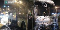 Vừa trả hết khách, xe khách 45 chỗ bốc cháy dữ dội