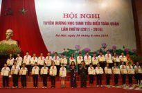 Tuyên dương 290 học sinh tiêu biểu toàn quân