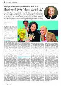 Nhân ngày giỗ đầu của nhạc sĩ Phan Huỳnh Điểu (29/6): Nhạc sĩ của tình yêu