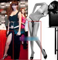 Sự đối lập về nhan sắc của các người đẹp trước và sau photoshop
